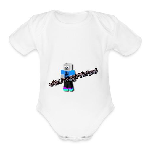 Wolfcrafter06 - Organic Short Sleeve Baby Bodysuit
