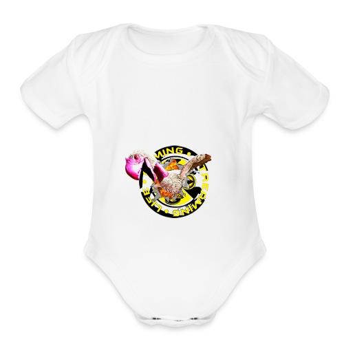 Terror Squad Burst! - Organic Short Sleeve Baby Bodysuit