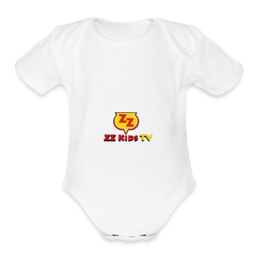 zzkidstv logo - Organic Short Sleeve Baby Bodysuit