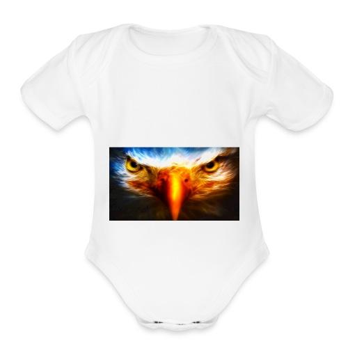 BADCOOL EAGLE - Organic Short Sleeve Baby Bodysuit
