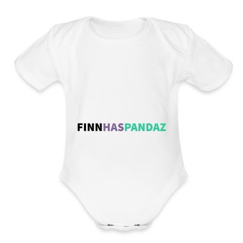 FinnHasPandaz Logo - Organic Short Sleeve Baby Bodysuit