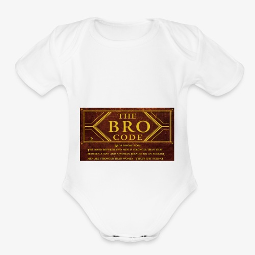 barney stinson how i met your mother the bro code - Organic Short Sleeve Baby Bodysuit