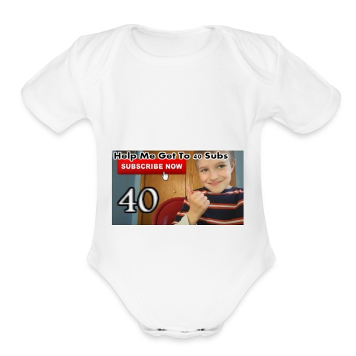 40 subs shirt - Organic Short Sleeve Baby Bodysuit