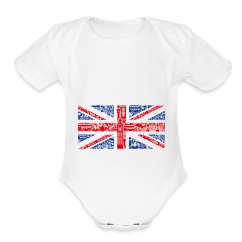 London - Organic Short Sleeve Baby Bodysuit