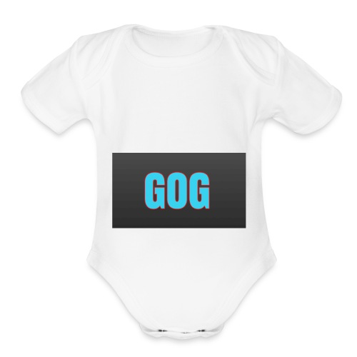 The simple gog T-shirt - Organic Short Sleeve Baby Bodysuit