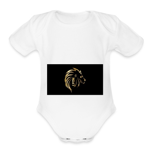 Gold and black bandana - Organic Short Sleeve Baby Bodysuit