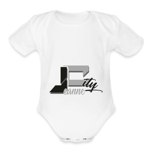 JeanneCityLogoOfficialBnW - Organic Short Sleeve Baby Bodysuit