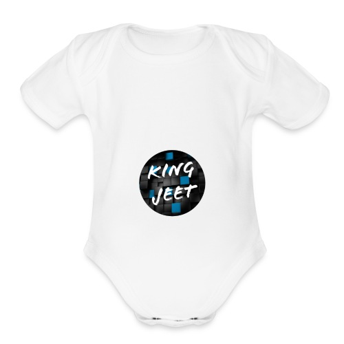 king jeet - Organic Short Sleeve Baby Bodysuit