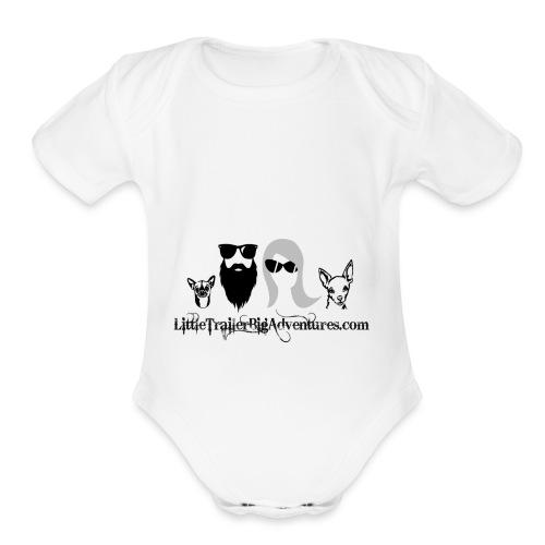 LTBA Heads Logo - Organic Short Sleeve Baby Bodysuit