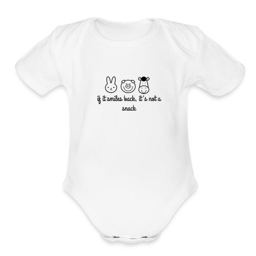 SMILE BACK - Organic Short Sleeve Baby Bodysuit