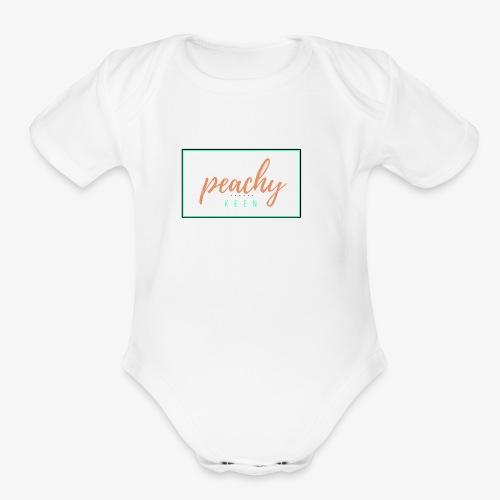 peachy keen - Organic Short Sleeve Baby Bodysuit