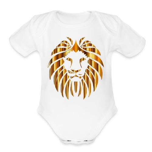 Gold Lion Design - Organic Short Sleeve Baby Bodysuit