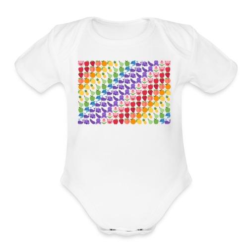 Emoticonic - Organic Short Sleeve Baby Bodysuit