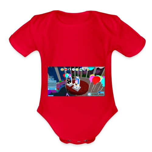 prom queen - Organic Short Sleeve Baby Bodysuit