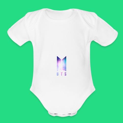 Galaxy BTS Bangtan Sonyeondan Logo - Organic Short Sleeve Baby Bodysuit