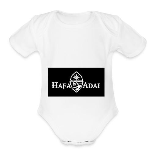 guam islander - Organic Short Sleeve Baby Bodysuit