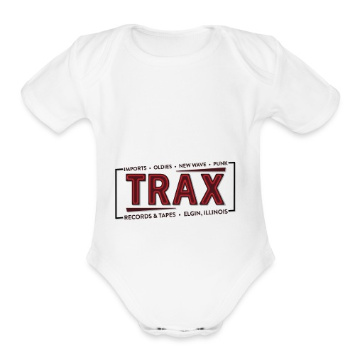 Trax Record Store -an homage to Pretty in Pink - Organic Short Sleeve Baby Bodysuit