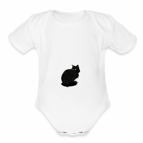 Lexie the cat Jim Jim shirt - Organic Short Sleeve Baby Bodysuit