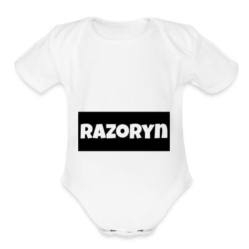 Razoryn Plain Shirt - Organic Short Sleeve Baby Bodysuit