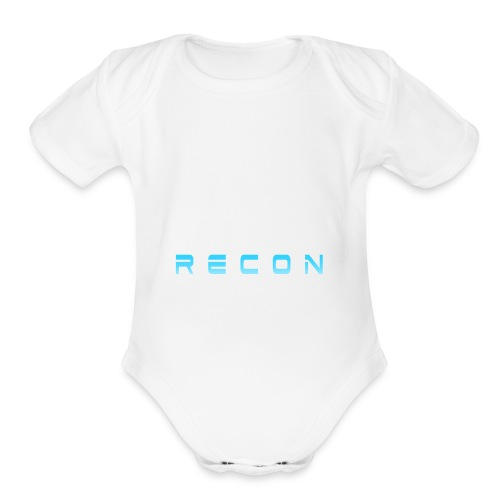 Rec0n Text - Organic Short Sleeve Baby Bodysuit