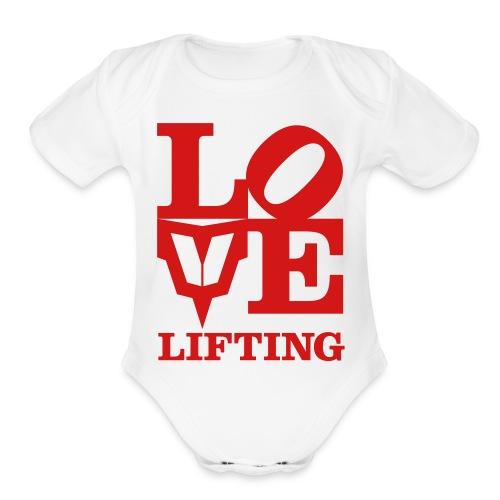 Love Lifting - Organic Short Sleeve Baby Bodysuit
