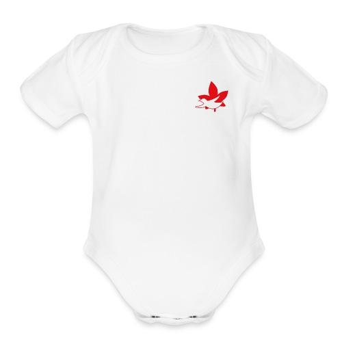 UNC logo front of shirts - Organic Short Sleeve Baby Bodysuit