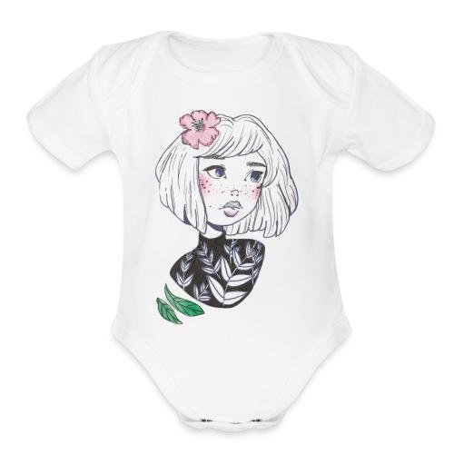Floral Daydream - Organic Short Sleeve Baby Bodysuit