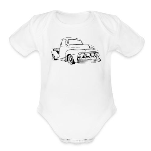 1951 F100 Classic Pickup Truck Men's T-Shirt - Organic Short Sleeve Baby Bodysuit