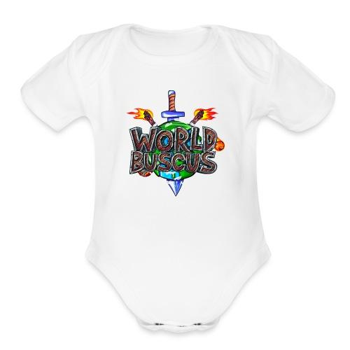 world2 - Organic Short Sleeve Baby Bodysuit