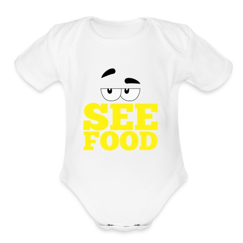 see food - Organic Short Sleeve Baby Bodysuit