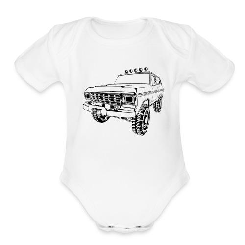 1970 Bronco Truck T-Shirt - Organic Short Sleeve Baby Bodysuit
