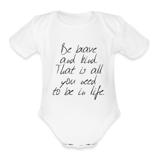 Brave & kind - Organic Short Sleeve Baby Bodysuit