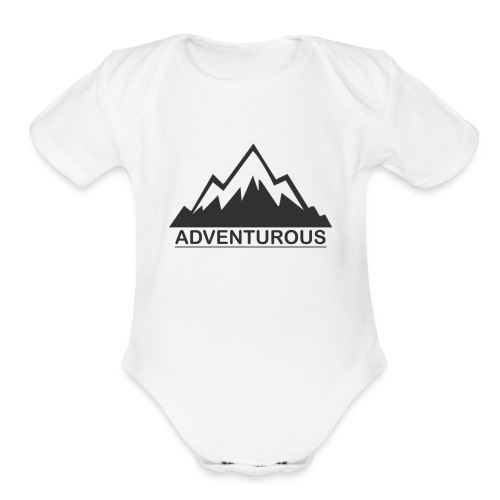 Adventurous - Organic Short Sleeve Baby Bodysuit