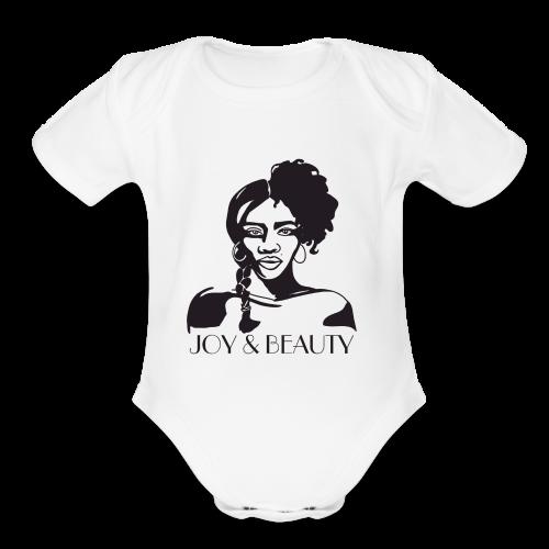 Joy and Beauty Logo - Organic Short Sleeve Baby Bodysuit