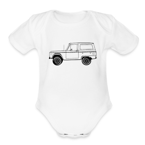 Bronco Truck Line Art Men's T-Shirt - Organic Short Sleeve Baby Bodysuit