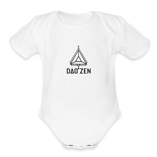 Dao Zen White Shirt - Organic Short Sleeve Baby Bodysuit
