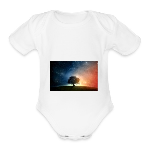 Night Star - Organic Short Sleeve Baby Bodysuit