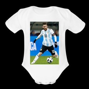 messi - Short Sleeve Baby Bodysuit