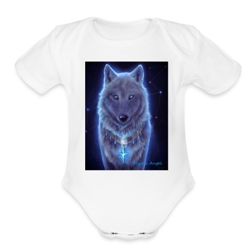 Mystic Angel - Organic Short Sleeve Baby Bodysuit