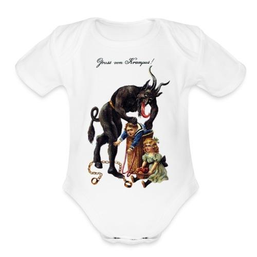 Krampus - Organic Short Sleeve Baby Bodysuit