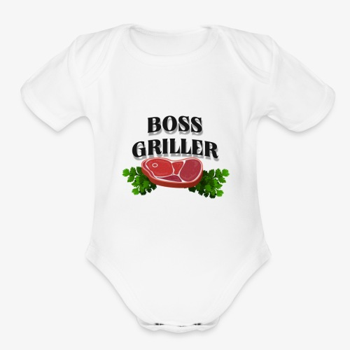 Boss Griller - Organic Short Sleeve Baby Bodysuit