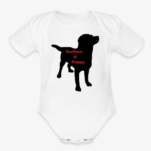 Southern & Preppy - Organic Short Sleeve Baby Bodysuit