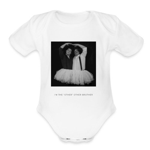 I'm the other other black and white - Organic Short Sleeve Baby Bodysuit
