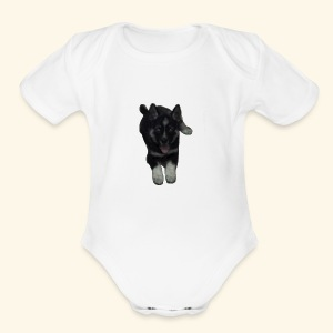 Puppy - Short Sleeve Baby Bodysuit