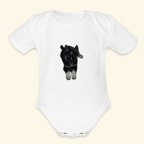 Puppy - Organic Short Sleeve Baby Bodysuit
