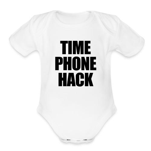 Time Phone Hack - Organic Short Sleeve Baby Bodysuit