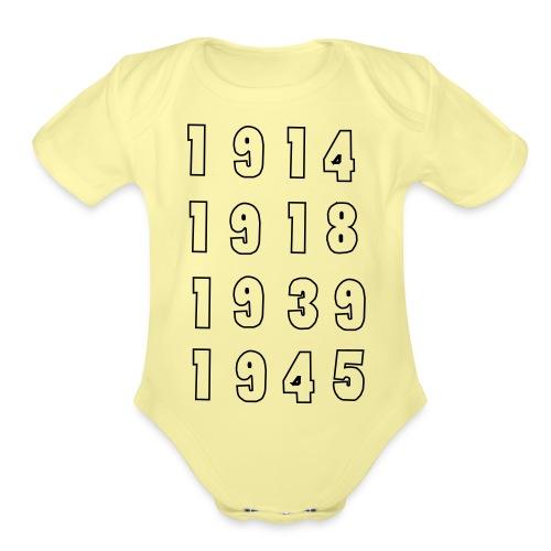 Great War Dates - Organic Short Sleeve Baby Bodysuit