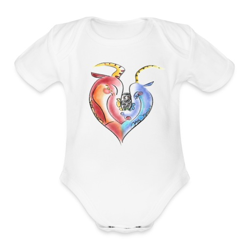 Jeju in love - Organic Short Sleeve Baby Bodysuit