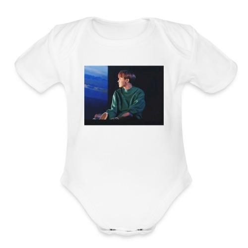 hoseok sweatshirt - Organic Short Sleeve Baby Bodysuit