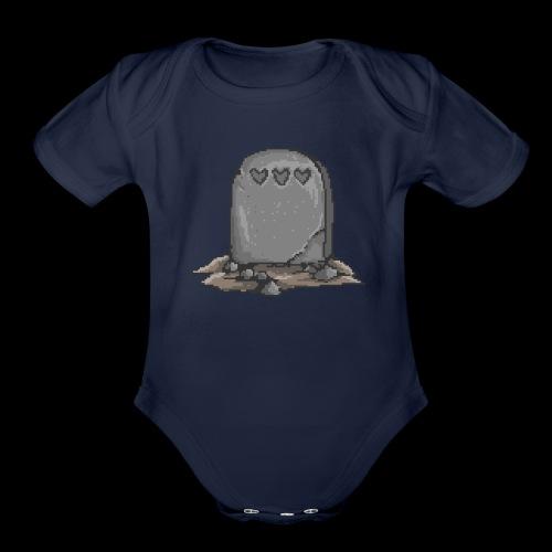 No Life Left | Funny Gamer Grave - Organic Short Sleeve Baby Bodysuit